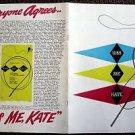 KISS ME KATE Original  Theatre Program ANNE JEFFREYS Keith Andes BROADWAY  N.Y.
