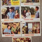 GREEN FIRE Original GRACE KELLY Stewart Granger LOBBY CARD Photo Set of 7  1954