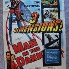MAN IN THE DARK Film Noir 1-Sheet POSTER Edmond O'Brien AUDREY TOTTER Dimension