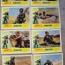 HELL SQUAD Original LOBBY CARD Photo Set of 8 WWII Wally Campo WAR Battlefield