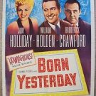 BORN YESTERDAY Original 1-Sheet JUDY HOLLIDAY Movie POSTER William Holden OSCAR!