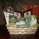SMB Green & White Gift Basket