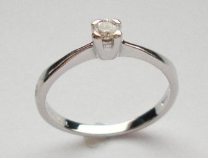 MADE IN ITALY VALENZA 18K GOLD 0.11 KT DIAMOND RING A123080 BUZIO LUCIANO