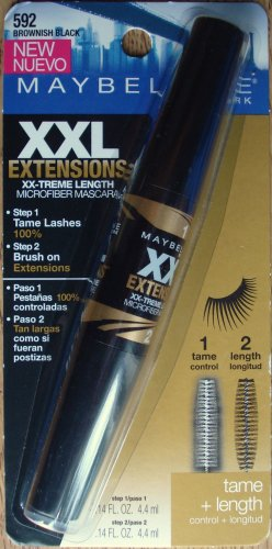 Maybelline XXL Extensions Microfiber Mascara - Brownish Black