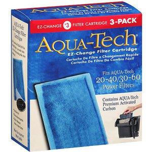 NIB Aqua Tech EZ-Change #3 Aquarium 20/40-30/60 Pump Filter Cartridge 3 pack