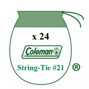 24 Coleman Liquid Fuel Lantern 21 Sock Style String Tie Mantles 6-4 Pack 21A104