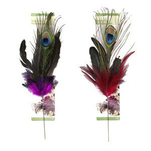 Floracraft Peacock Feather Pick Accent for Vases and Floral Flower Creations