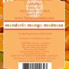 ScentSationals Mandarin Mango Madness Fragrance Scented Wax Melt Cubes Burners