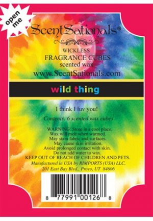 ScentSationals Wild Thing Home Fragrance Scented Wax Melt Cubes for Burners