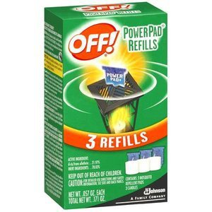 Johnson OFF Mosquito Power Pad Lamp Refills 3 count Insect Repellent Up To 4 hr