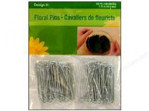 NEW FloraCraft Floral Accessories Metal Floral Pins 1.75 inch 100 pk Arts Crafts