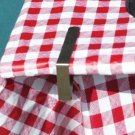 NEW Coleman Stainless Steel Picnic Tablecloth Patio Table Clamps 6 Pack