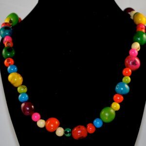 Handmade Multi Color Cheerful Beaded Necklace