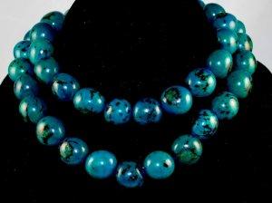 Handmade Turquoise Beaded Single Strang Necklace