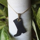 Laser Cut Rubber Boot with Brass Eyelet