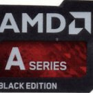 Case Badges - AMD - A Series Black Edition - Metalic Black & Red