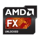 Case Badges - AMD - FX Unlocked - Metalic Black & Red