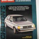 Chiltons Chrysler 1978-89 Service Manual