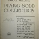 Vintage Chappell's Famous Melodies 1934 Piano Book
