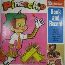 Pinocchio Peter Pan Records 45 RPM 1946 Book and Record