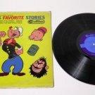 Popeye's Favorite Stories RCA Camden 1960 Record