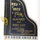 Alacarte and Wine List Menu Bangkok Thailand 1963