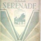 Schubert's Serenade Song with Guitar Chords 1933 Sheet Music