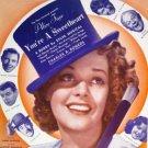 You're a Sweetheart 1937 Sheet Music Alice Faye Musical