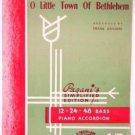 Joy to the World O Little Town of Bethlehem 1940 Accordion Sheet Music
