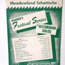 Meadowland Schottische 1958 Accordion Sheet Music