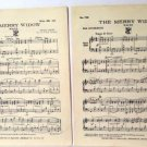 The Merry Widow 1940 Accordion Sheet Music 1st and 2nd Accordion