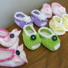 Open-Toe Peek-A-Boo Baby Sandals Crochet Soft Cotton Shoes