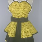 Retro Apron Women Sassy Layered Skirts Diner Vintage Style