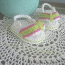 Baby Sandals Baby Flip Flop Sandals Crochet Soft Cotton Sandals Crib Shoes