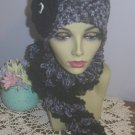 Winter Hats Two Womens Crocheted Hats Boa Scarf Set Cloche and Scarf Set