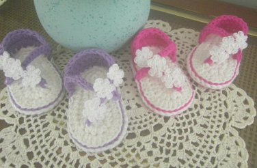 Baby Sandals Crochet Cotton Shoes Handmade Infant Shoes Girl Crib Shoes Baby Booties Summer Sandals