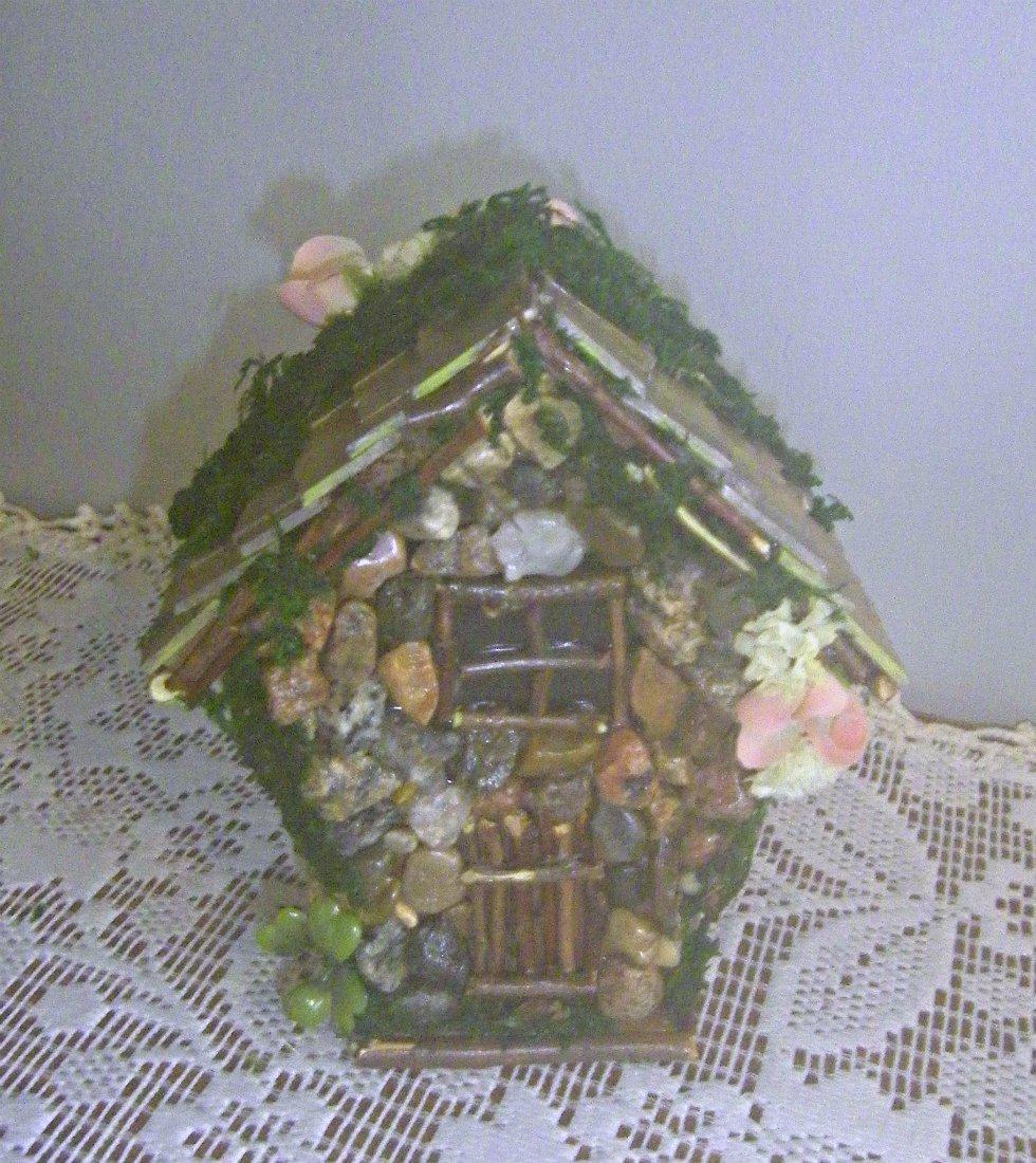 HANDMADE FAIRY HOUSE HANDCRAFTED FAIRY HOUSE Stone Moss FAIRY HOUSE Yard Decor