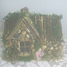 HANDMADE FAIRY HOUSE HANDCRAFTED FAIRY COTTAGE Stone FAIRY HOUSE Yard Decor