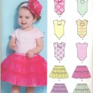 Girls Pattern Baby 4 Sizes Bodysuit Skirt New Look 6135 Summer Clothes
