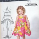 Girls Pattern Toddler 5 Sizes Dress New Look 6136 Summer Dress Hemming Variation