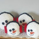 Snowman Hat Winter Handmade Snowman with Earmuffs Crocheted Hats Unisex