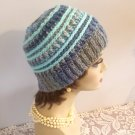 Messy Bun Hat Winter Hat Crocheted Handmade Winter Hat Women Bun Hat