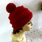Hat Winter Hat Crocheted Handmade Winter Hat Women Pompom Bobble Design