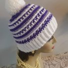 Hat Winter Hat Crocheted Handmade Winter Hat Womens Pompom Textured Design