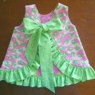 Ruffled Sunsuit Childs Sunsuit Summer Reversible Dress Frog Print Ruffled Bloomers