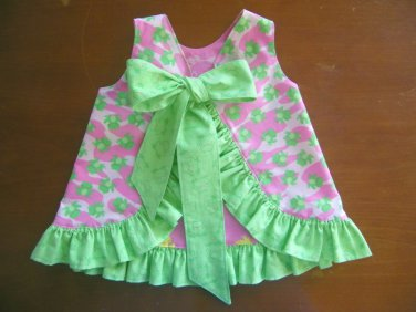 07feb6fbfbe Ruffled Sunsuit Childs Sunsuit Summer Reversible Dress Frog Print ...