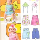 Unisex Pattern Baby 4 Sizes Romper Skimmer Hat New Look 6111 Summer Clothes