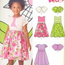 Girls Pattern Child 6 Sizes Dress and Shrug New Look 6118 Summer Clothes