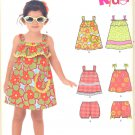 Girls Pattern Toddler 5 Sizes Dress and Bloomers New Look 6200 Summer Clothes