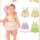 Girls Pattern Baby 4 Sizes Bubble Dress New Look 6218 Summer Clothes